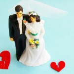 couple figurine with broken hearts